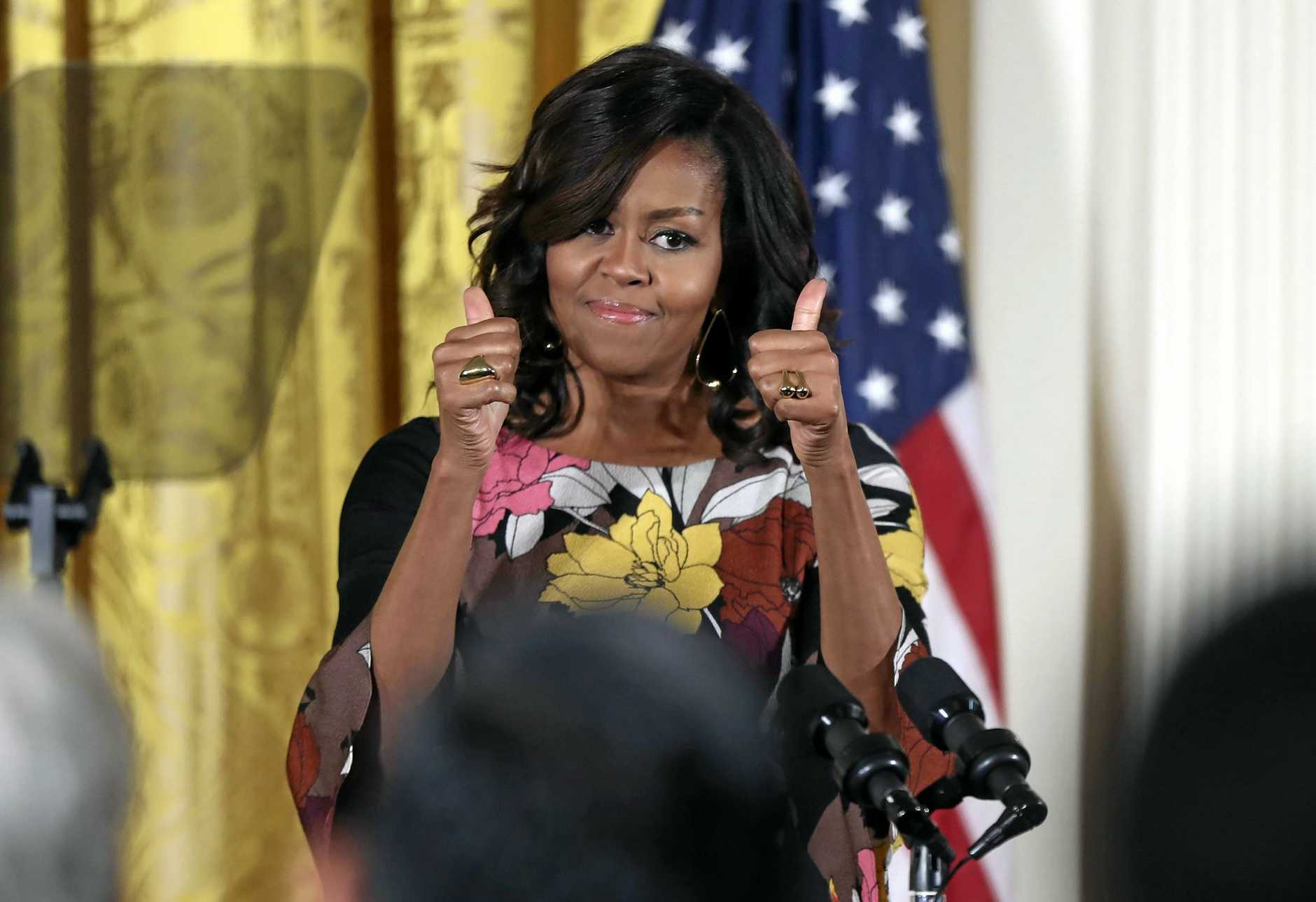 First Lady Michelle Obama commands huge respect in the US.