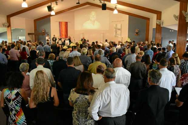 SAYING GOODBYE: More than 300 people turned out for Nathan Spoor's funeral.