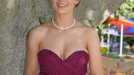 Haylee Polley before the South Rockhampton High School formal.