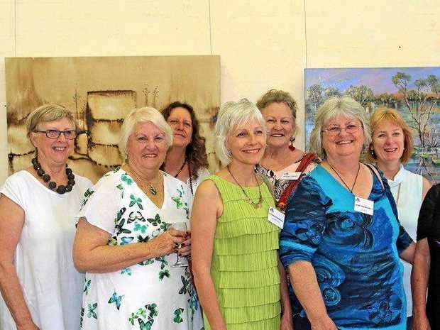EARTHLY ART: Some of the participating artists and their works in the