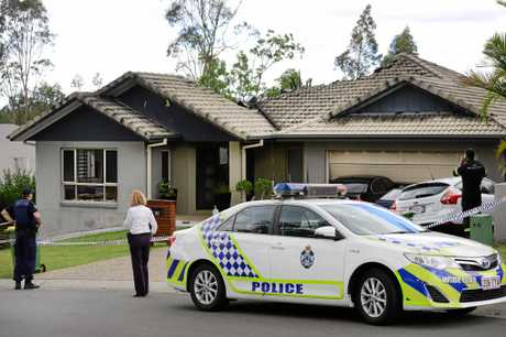 HORROR: The arson attack by Neil De Graaf on this Brookwater home resulted in his own death.