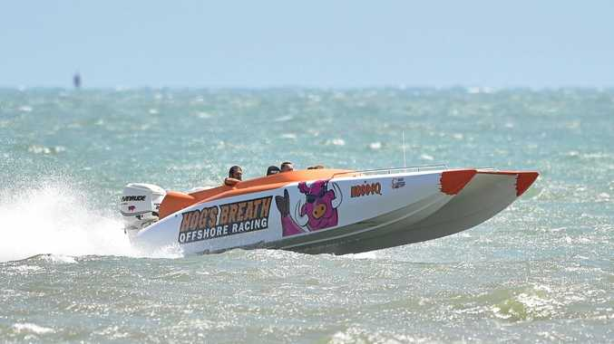 Super boats - Hog's Breath Offshore Racing. Photo: Alistair Brightman / Fraser Coast Chronicle