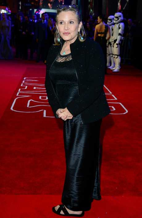 Actress Carrie Fisher.