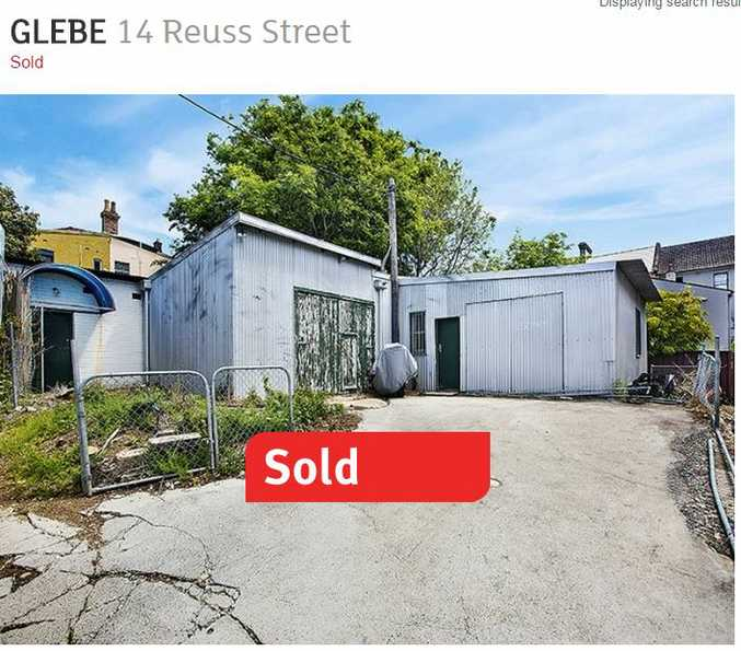 The Glebe tin shed that went for $1.69m.