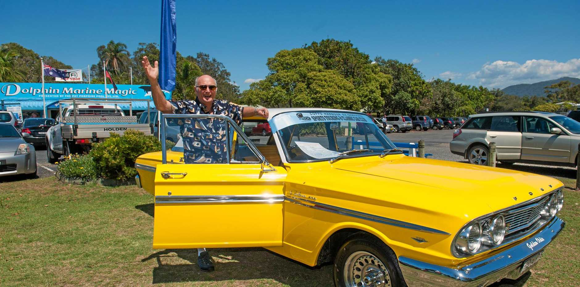 PROUD OWNER: C.ex Coffs Sports Touring and Classic Car Club member Bob Cooper shows off his 1964 Ford Compact Fairlane.
