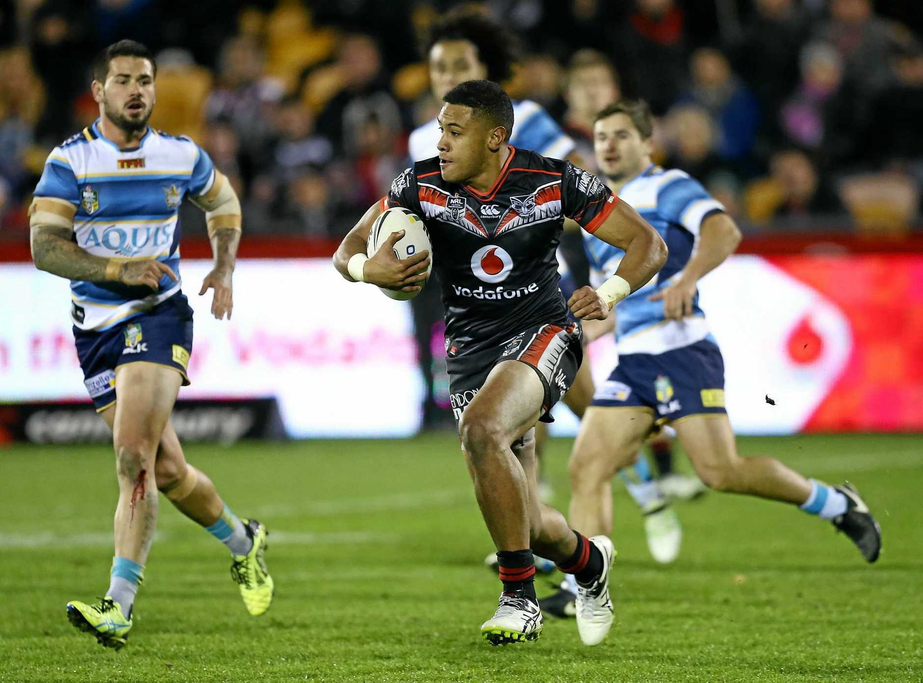 David Fusitua in action for his club side the Warriors this year.