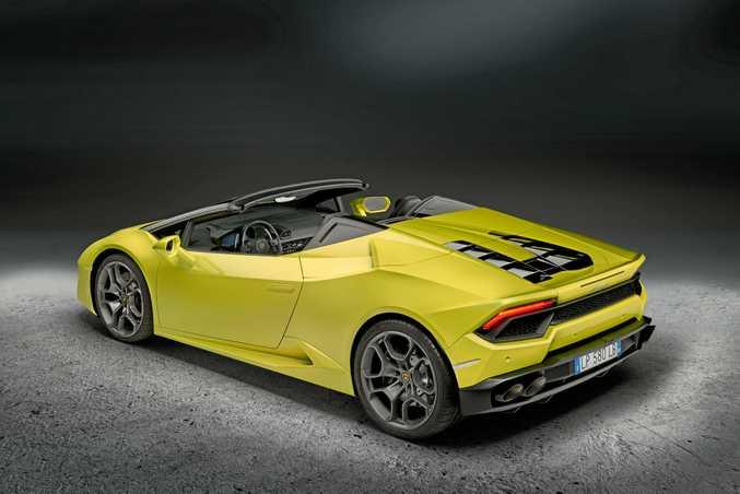 The Lamborghini Huracán rear-wheel drive Spyder.