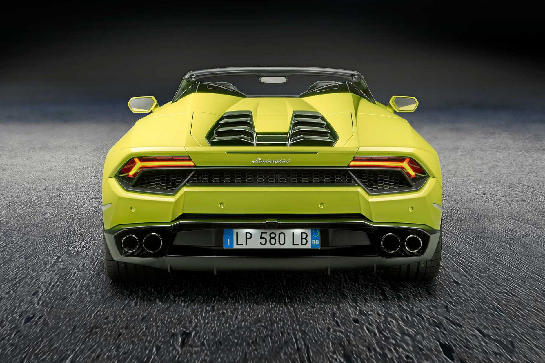 The Lamborghini Huracán rear-wheel drive Spyder.