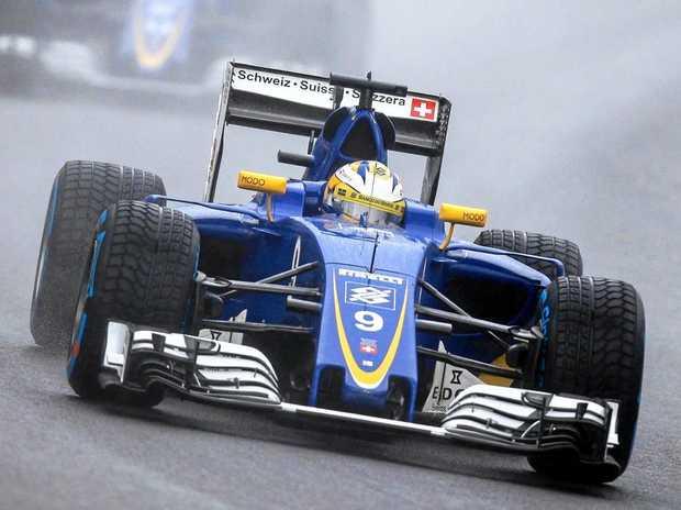 Swedish Formula One driver Marcus Ericsson, of Sauber, in action during the Brazilian Grand Prix at Interlagos race track in Sao Paulo.