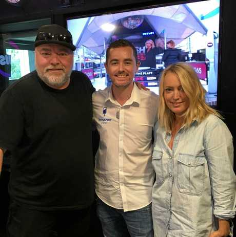 Max Petro from the Hangover Clinic (middle) with Kyle Sandilands and Jackie-O.