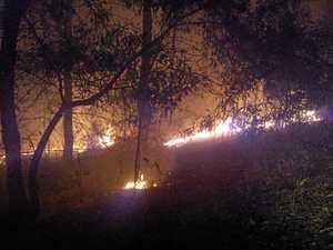 Firies battle as 12,000ha burns in four days near Imbil