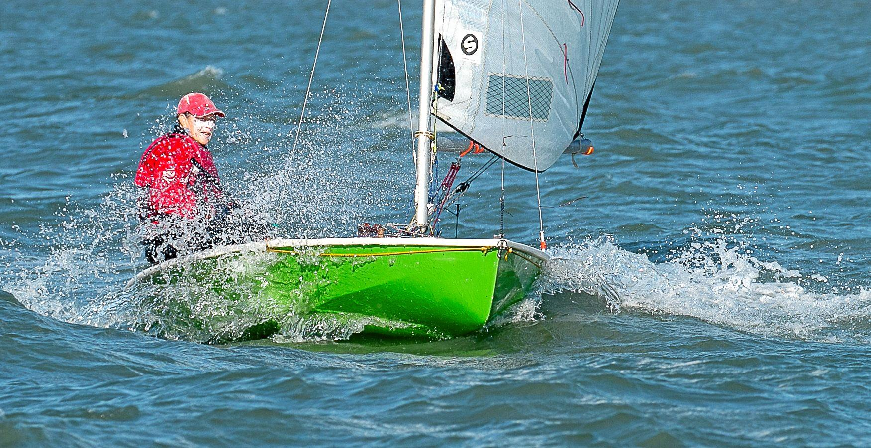 SAILING: Maria Mohrholz at the recent Mutihull Challenge at Hervey Bay on Windspeil.