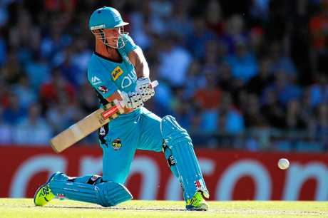 STAR PLAYER: Chris Lynn of the Heat bats during the Big Bash League match between the Perth Scorchers and the Brisbane Heat at WACA last year.