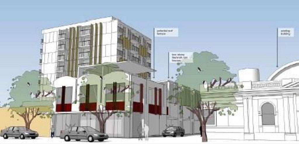 A preliminary design of the 37 William Street site.