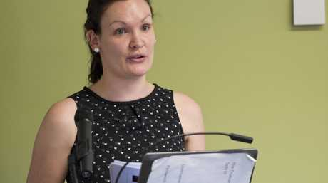 Zoe Jones of Lady Cilento Children's Hospital pain team talking at the Regional Paediatric Symposium at St Vincent's Private Hospital, Friday, November 4, 2016.