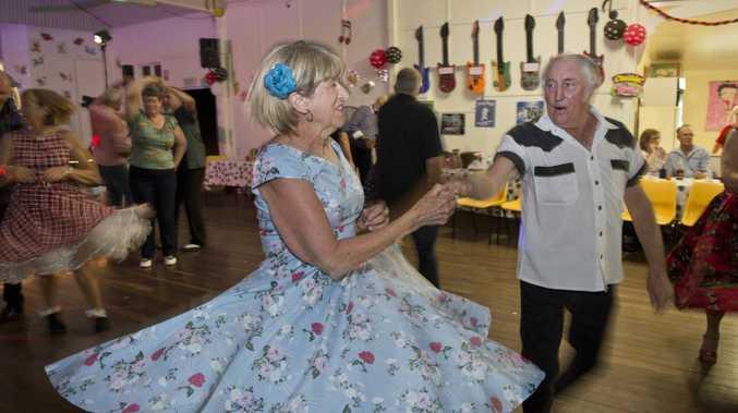 Shirley and Darryl Quirey dance up a storm at the Just Rock Toowoomba ten year anniversary dance at Drayton Hall, Saturday, November 12, 2016.