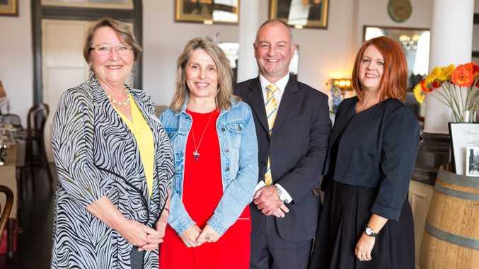 YellowBridge QLD chief executive Penny Hamilton, YellowBridge chair Carolyn Brown, Haven president David Ward, Haven manager Amanda Dalton