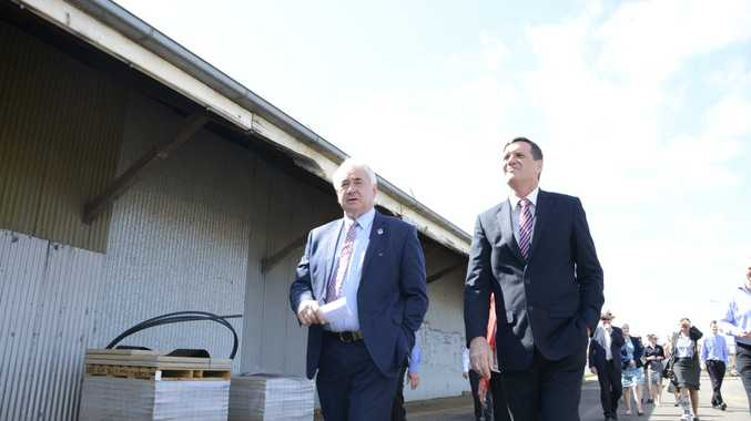 DEVELOPMENT: Toowoomba Mayor Paul Antonio and State Development Minister Anthony Lynham tour the historic Toowoomba Rail Goods Shed, which will be upgraded to be a major commercial hub in the CBD at a cost of $5 million.