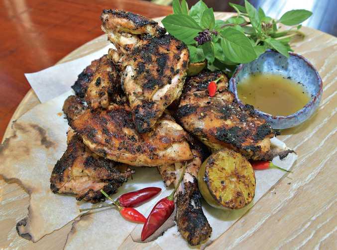 Celebrity chef Matt Sinclair cooks up a feast on the backyard BBQ.