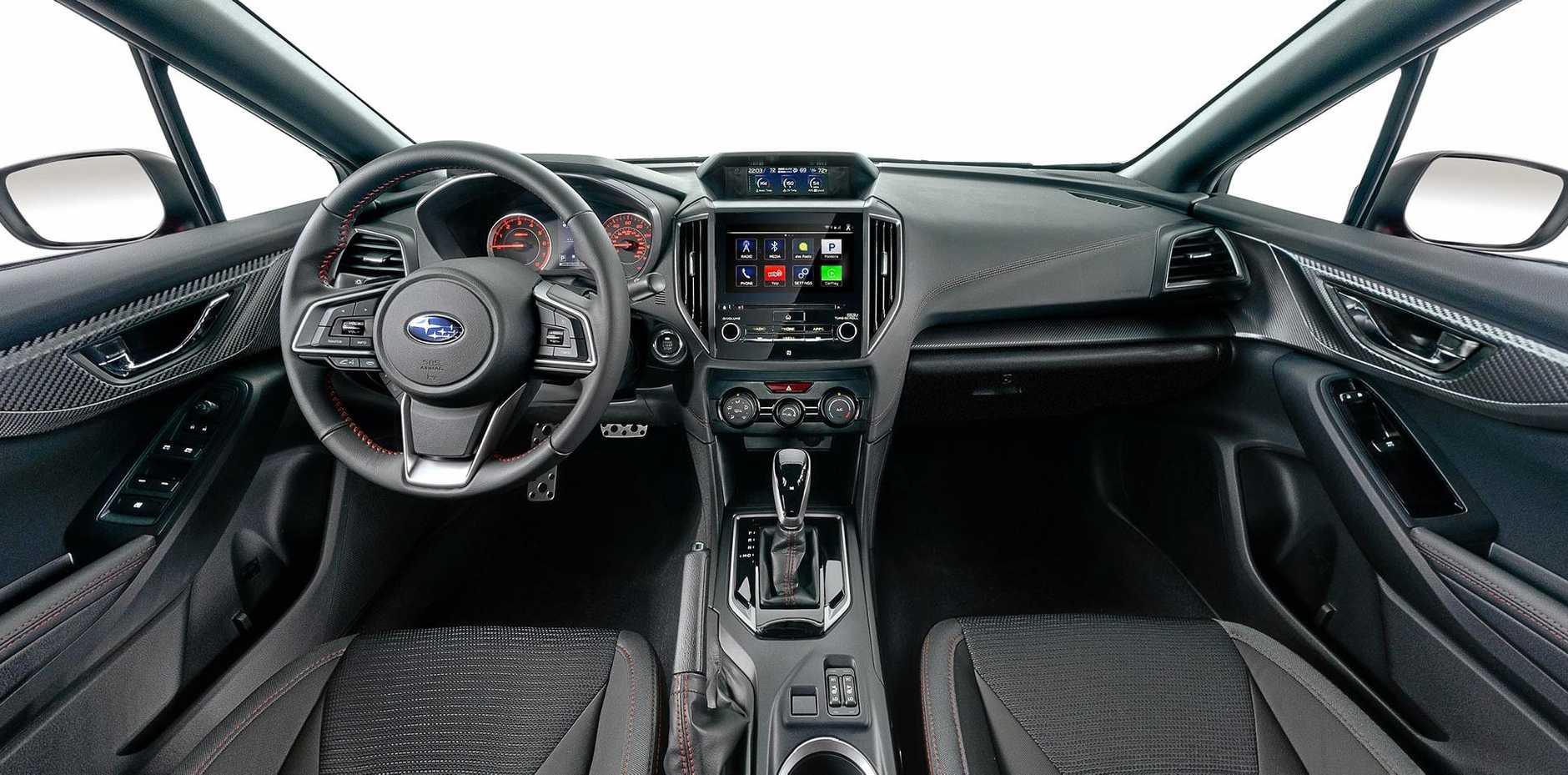 Inside the 2017 Subaru Impreza.