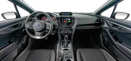 Inside the 2017 Subaru Impreza.