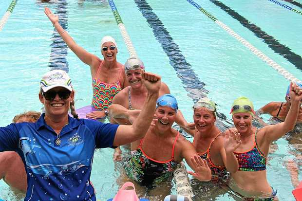 CHARITY CHALLENGE: Swim squad trainer Tracy Mitchell and 45 others will swim 10km for Beyond Blue.