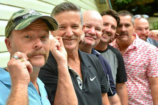 Staff members at Buderim Mountain State School David Neighbour, David Larkin, Shane Allen, Anthony Hawes, Brooke-Starr-Thomas and Tony Sinclair are supporting Movember.