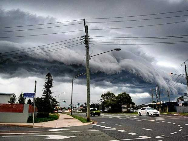 Storm rolling in at Caloundra. Flinty McCullough. Photo Contributed