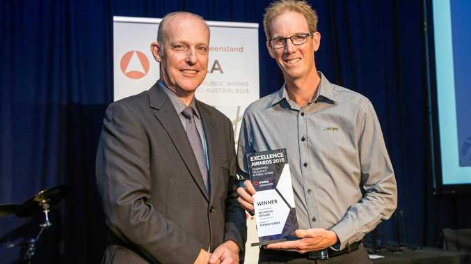 WINNER: The council's Acting Technical Services Manager Steven Forbes was named Technical Officer of the Year.