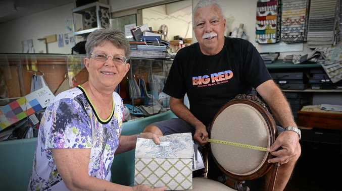 Steve and Pam Groom, of Nambour Upholstery, are celebrating 30 years in business.