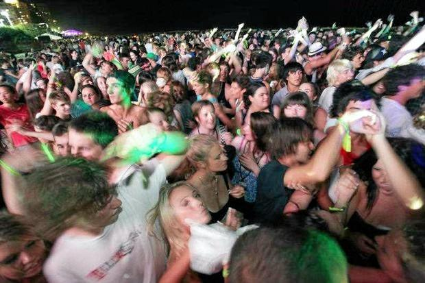 SAFE CHOICES: Schoolies at the Gold Coast.