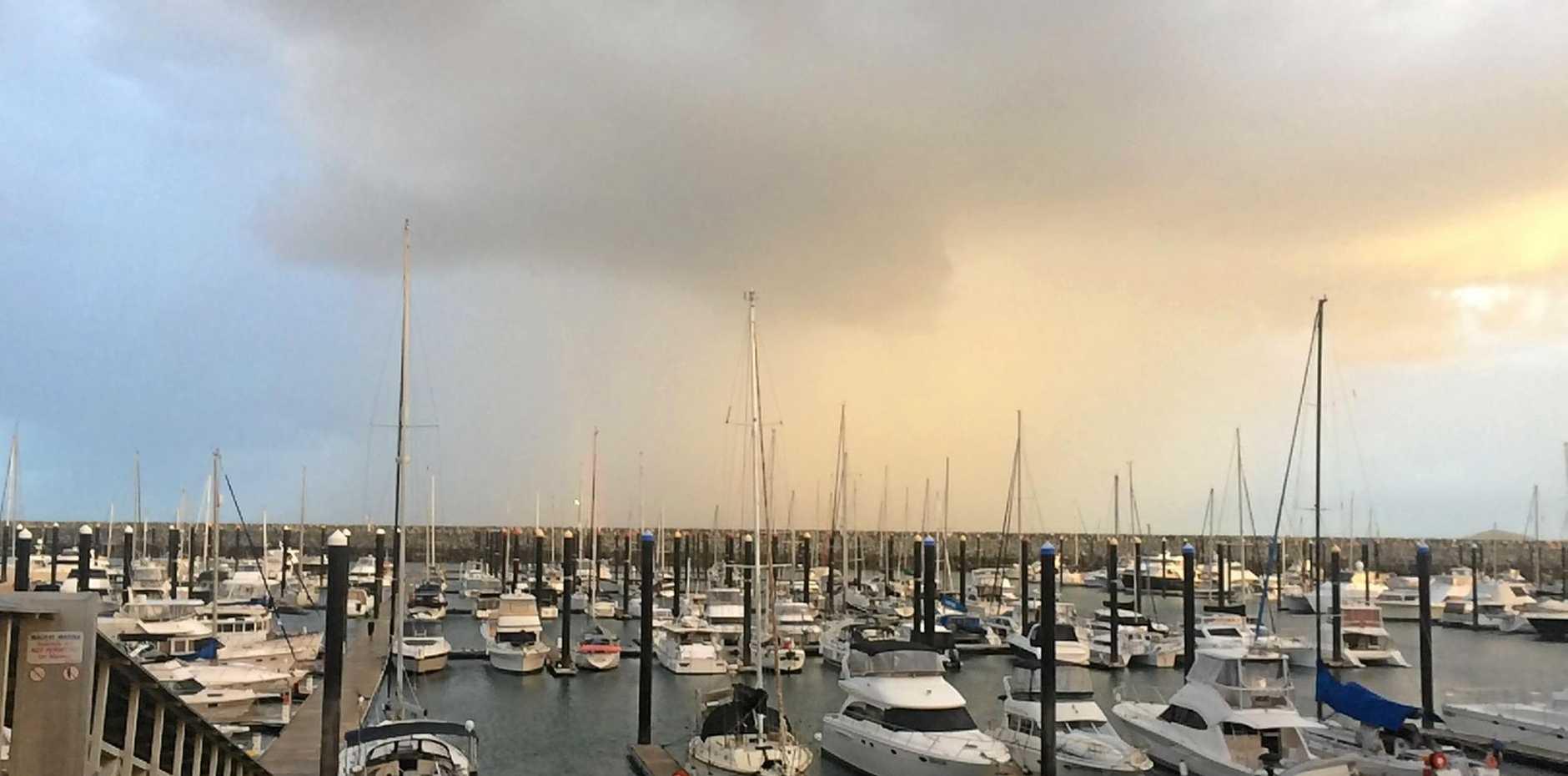 Mackay turned into the windy city last night.