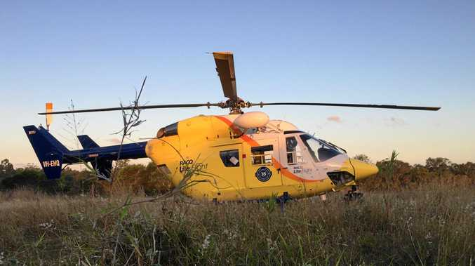 RESCUE: A 77-year-old man was flown to Nambour Hospital after a quad-bike accident.