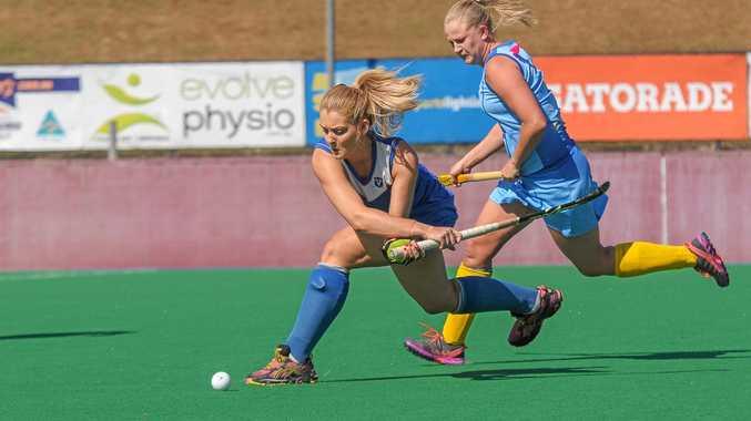 PROSPECT: Ashlea Fey playing for Valley Hockey Club in Brisbane