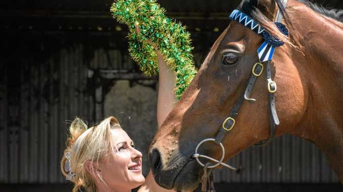 CHRISTMAS CHEER: Trainer Vanessa McLennan with her horse Curley Mac.