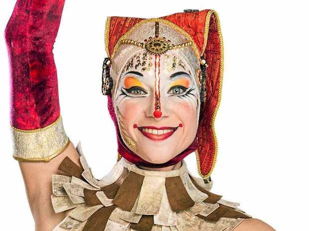 Australian Laura Kmetko is a performer in Cirque Du Soleil's Kooza.