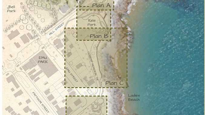 MASTER PLAN: The Emu Park Revitalisation Project, stretching from Peace Park to the Main Beach. The State Government has put $1.8million towards the project.