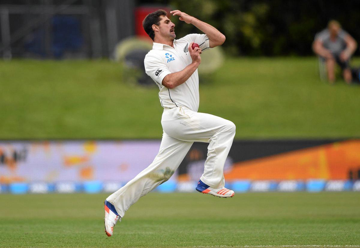 New Zealand bowler Colin de Grandhomme.