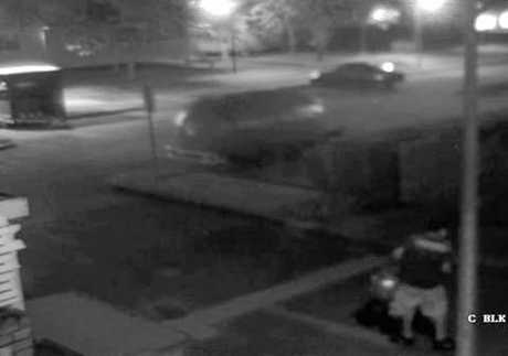 NSW Police have released images from CCTV cameras that caught two men in the area of the baked potato food trailer fire in Grafton earlier this month.