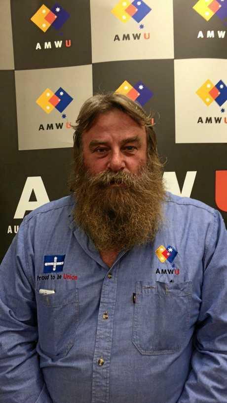 Australian Manufacturing Union's Peter Lyon.