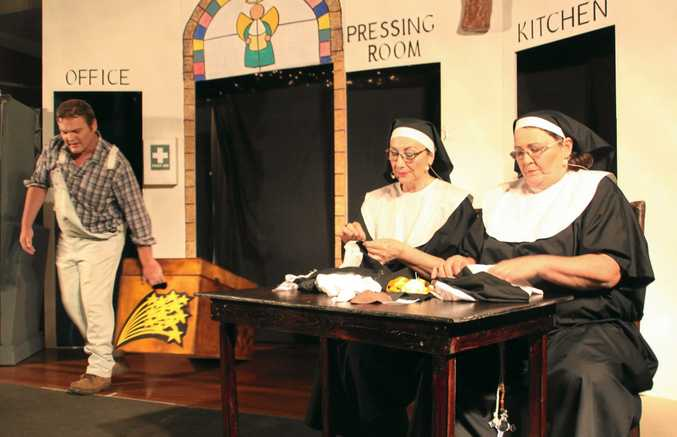 SOLD OUT: Sharon Hill and Pam Burton in the GTA's theatre restaurant, Drinking Habits.