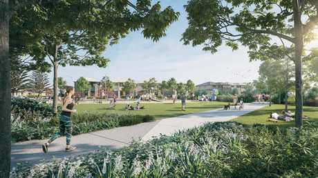 VIEW: An artist's impression of Pocket Park at the future Palmview development dubbed 'Harmony'.