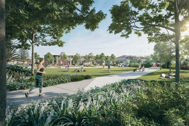 Launch of Harmony Estate at Palmview. Artist impression of the development.