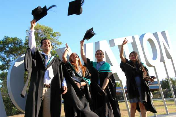 SUCCESS: International students from the University of the Sunshine Coast graduate with hope.