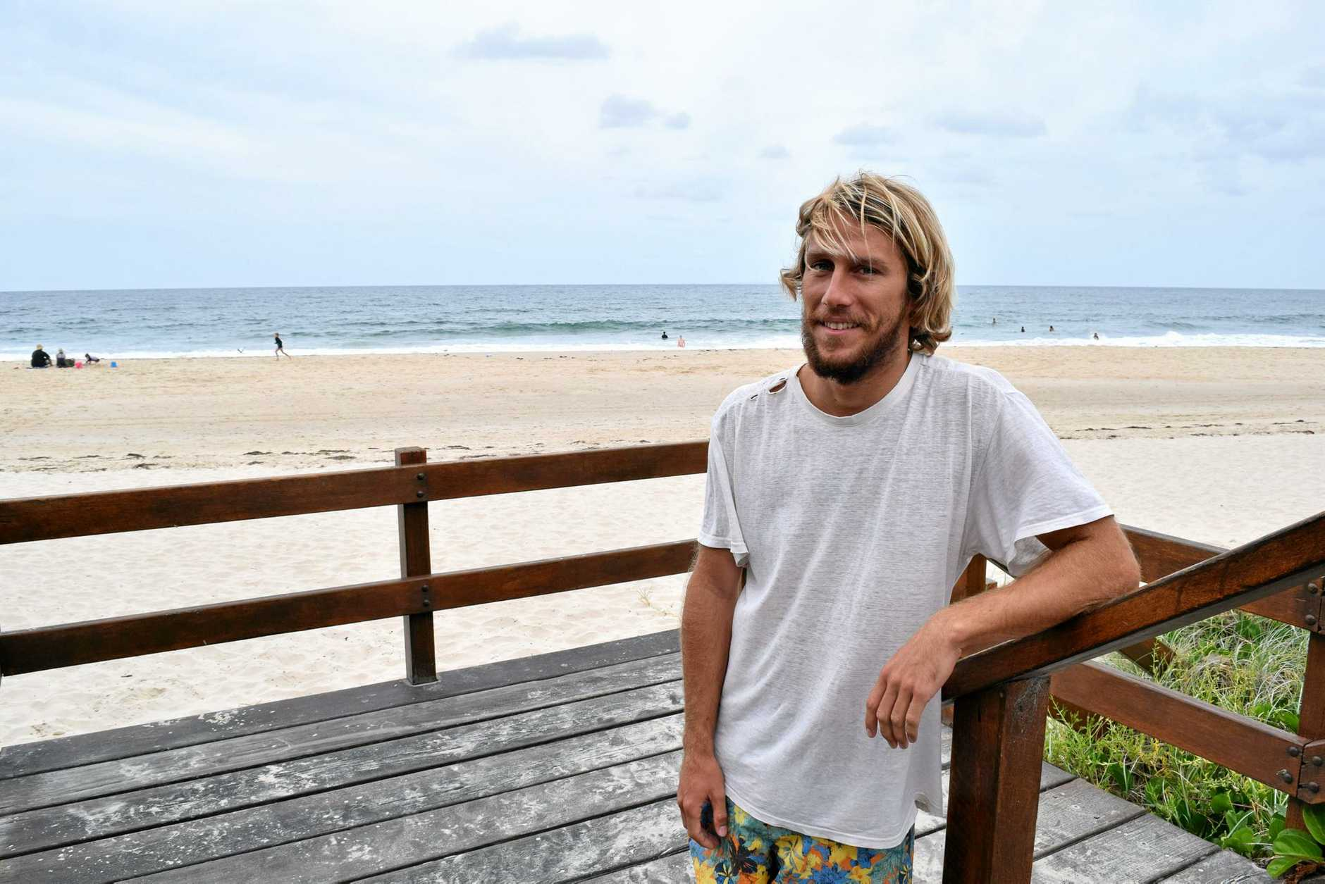 Lifeguard Daniel Robinson's first resuscitation rescue has turned out to be a successful one.