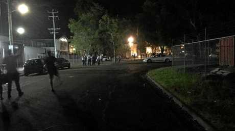 A party advertised on Facebook was attended by police on Friday night.