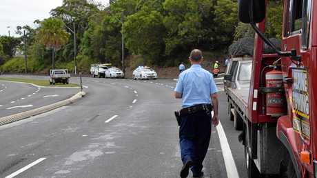 Power outages were experienced at Lismore today after a crash on Ballina Rd.