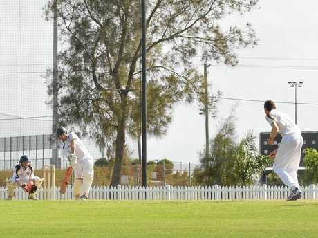 Neil Gustavson played some of the best straight bat cricket shots seen on a regional cricket ground on Saturday.
