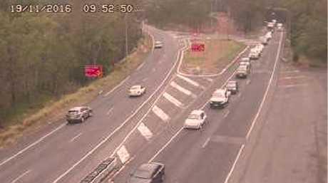 Traffic backed up on the Toowoomba Range.