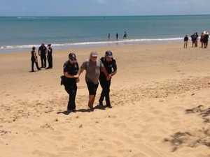 Lee Carter gets arrested by police on Scarness Beach